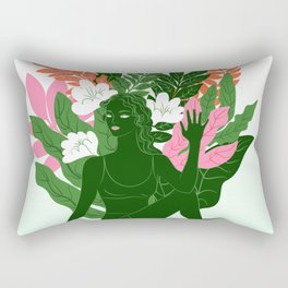 half lord of the fishes pose Rectangular Pillow
