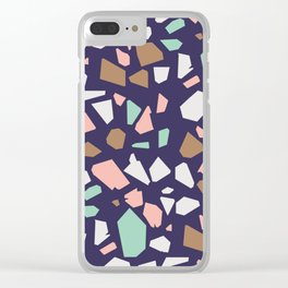 Colorful Modern Terrazzo Vector Pattern Clear iPhone Case