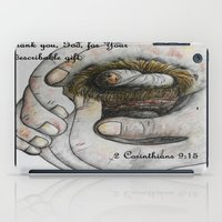 gift card iPad Cases featuring His Indescribable Gift by EloiseArt