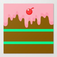 cake Canvas Prints featuring Cake by Rejdzy