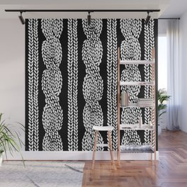 Cable Black Wall Mural