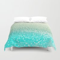 mint Duvet Covers featuring MINT by Monika Strigel