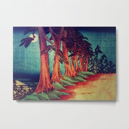 Midnight on the path towards Kanama Metal Print