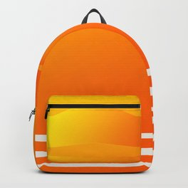 Star Flight Space Carrier - Red Orange Yellow Backpack