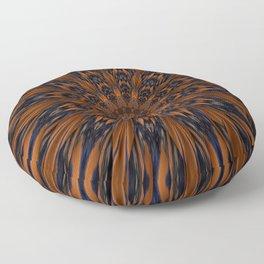 Energizing bronze mandala Floor Pillow