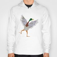 duck Hoodies featuring Duck by Jade Young Illustrations