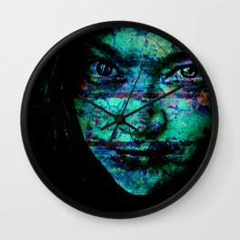 Turquoise Monsters Wall Clock