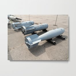Armament of aircraft and helicopters rockets, bombs, cannons Metal Print