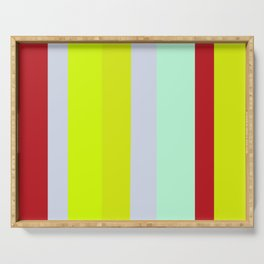 Striped Color BROWN BLUE GREEN Serving Tray
