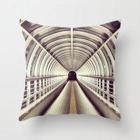 bridge Throw Pillows featuring Bridge by BarWy