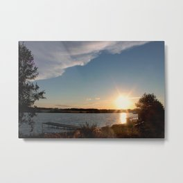 Evening sun and the river. The summer Metal Print