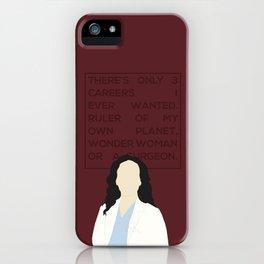 Greys Anatomy: Cristina Yang iPhone Case
