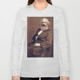 Portrait of Karl Marx by John Jabez Edwin Mayal Long Sleeve T-shirt