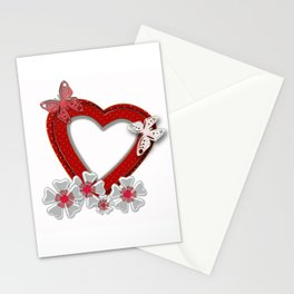 Love is like butterfly Stationery Cards