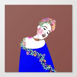 Flowered woman Canvas Print