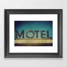 Grunge Motel Sign Framed Art Print