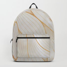 Elegant Abstract Leaves Waves Pattern Backpack
