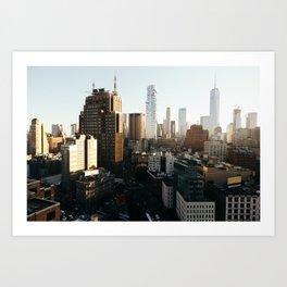 Southern Manhattan Sunset Art Print