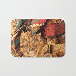 African Patterned Elephants Bath Mat