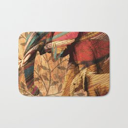 African Patterned Elephants Bath Mat