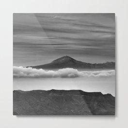 Volcano Teide 3.718 Meters. Bw. Canary islands Metal Print