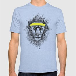 Hipster lion (red) T-shirt
