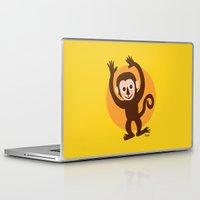 monkey Laptop & iPad Skins featuring Monkey by BATKEI