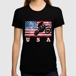 USA Motocross - Flag of America T-shirt