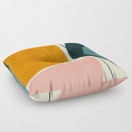 shapes geometric minimal painting abstract Floor Pillow
