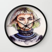 marc Wall Clocks featuring Cara/Marc Jacobs 2014 by vooce & kat