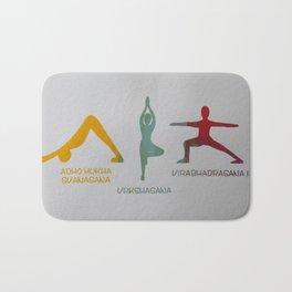 Screenprinted Yoga Art: Asanas - Wild Veda Bath Mat