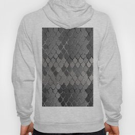 Mermaid Scales Silver Gray Glam #1 #shiny #decor #art #society6 Hoody