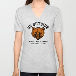 Go outside! Unisex V-Neck