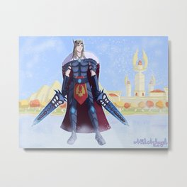Camus Blood Elf Death Knight Metal Print