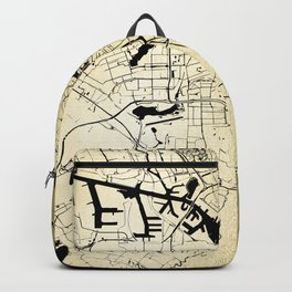Amsterdam Gold on Black Street Map Backpack