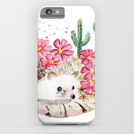 Camouflage - Hedgehog and Cactus iPhone Case