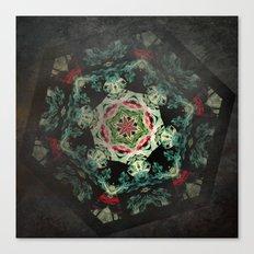 Dark forest mosaic kaleidoscope Canvas Print