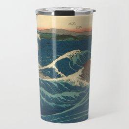 Vintage poster - Japanese Wave Travel Mug