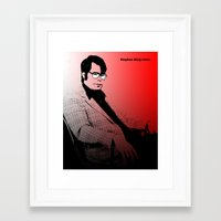 stephen king Framed Art Prints featuring Stephen King Rules by Hazel Bellhop