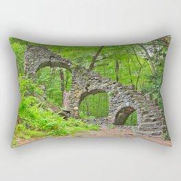 Forest Castle Ruins Rectangular Pillow