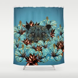 The Tiger and the Flower Shower Curtain