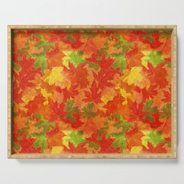 Autumn leaves #17 Serving Tray