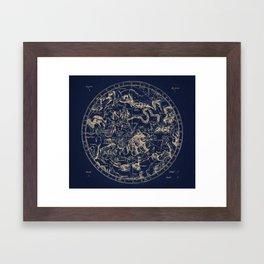 Gold Ceiling   Zodiac Skies Framed Art Print