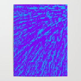 Purple Blue Abstract Poster