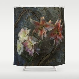 The Begonia Brocade Shower Curtain