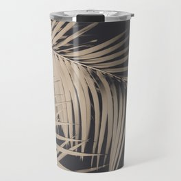Palm Leaves Sepia Vibes #3 #tropical #decor #art #society6 Travel Mug