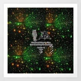 Space man  and Moonwalk 2 Art Print