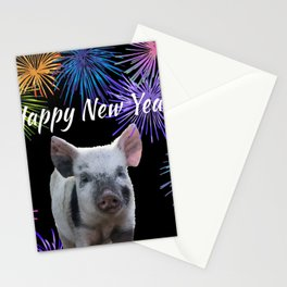 Happy New Year Pig Stationery Cards