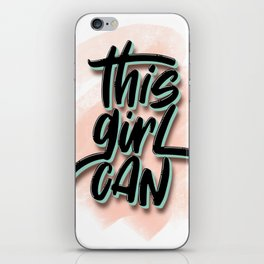 this girl can iPhone Skin