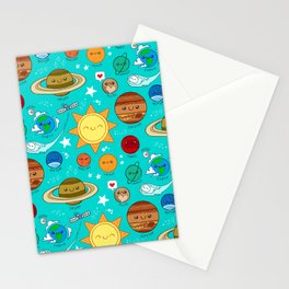 Planet party Stationery Cards